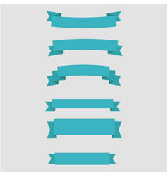 simple ribbons set vector image vector image