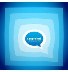 speech bubble background vector image vector image