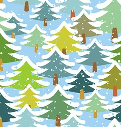 Tree in snow seamless pattern Snowstorm in forest vector image vector image