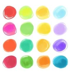 Watercolour marker circle textures drawn Stylish vector image vector image