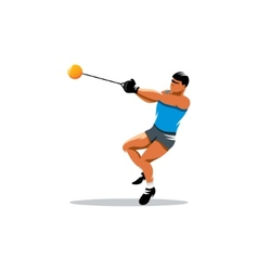 Hammer throw sign vector image