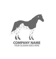 Night Horse Logo Icon vector image vector image
