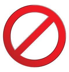 Sign forbidden empty vector