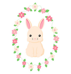 happy easter bunny for easter vector image vector image