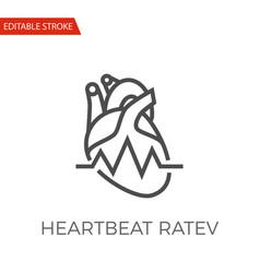 heartbeat ratev icon vector image
