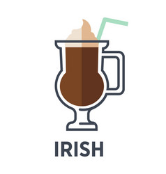 irish isolated on white background cocktail vector image
