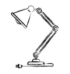 monochrome blurred silhouette of modern desk lamp vector image vector image