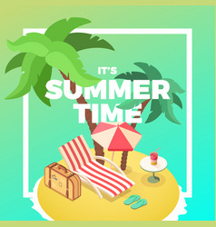 summer time island vector image vector image