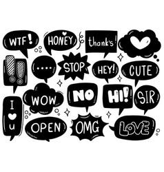 0016 hand drawn background set cute speech vector
