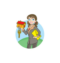 a real estate agent cartoon character vector image