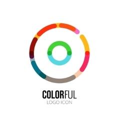 abstract circle colorful logo design vector image