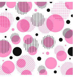 abstract modern pink black dots pattern vector image