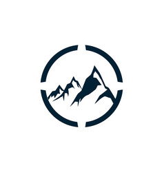 abstract three mountain logo icon vector image