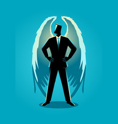 an angel as a businessman vector image vector image