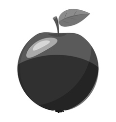 Apple icon gray monochrome style vector image