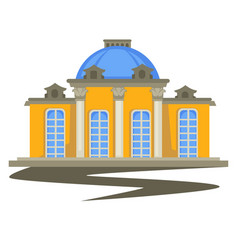 Architecture building with columns and dome vector