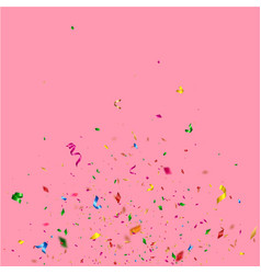 birthday confetti on pink background vector image