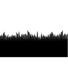 black cityscape silhouette vector image