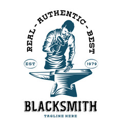 Blacksmith logo design vector