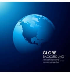 Blue globe earth background vector
