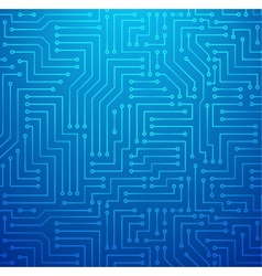 Blue Printed Circuit Board vector image
