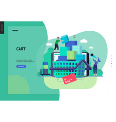 business series - cart web template vector image