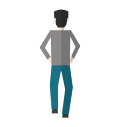 businessman back view character avatar vector image