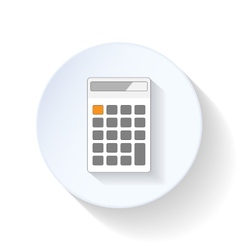 Calculator flat icons vector image