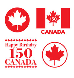 Canada day 150 graphics vector