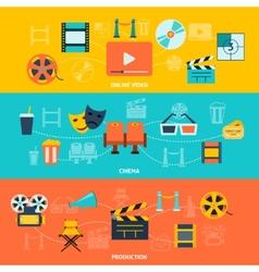 Cinema horizontal banners set vector image