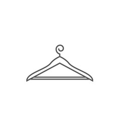 Clothes hanger isolated icon in linear style vector