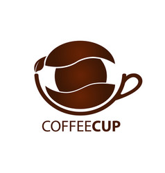 coffee cup logo concept design symbol graphic vector image