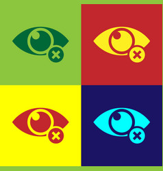 color invisible or hide icon isolated on color vector image