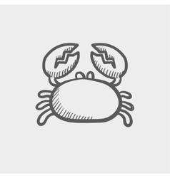 Crab sketch icon vector image