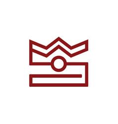 Crown camera logo vector