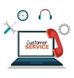 customer service online icon vector image