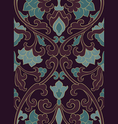 Dark floral pattern vector