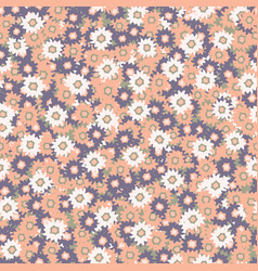 Ditsy daisy floral pattern hand drawn vector