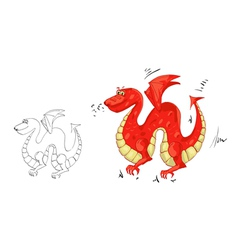 Dragon with wings vector