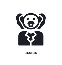 Einstein isolated icon simple element from vector