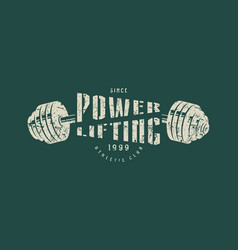 Emblem of the powerlifting club vector