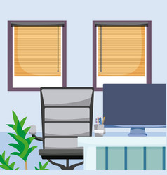 Empty office interior vector