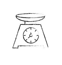 Figure bascule kitchen utensil object to cuisine vector