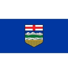Flag of Alberta in correct proportions and colors vector image