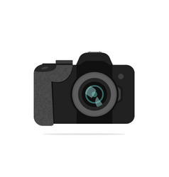 flat icon of dslr-camera vector image