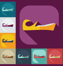 Flat modern design with shadow icons east clothing vector