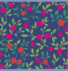 floral design with flourishing and foliage pattern vector image