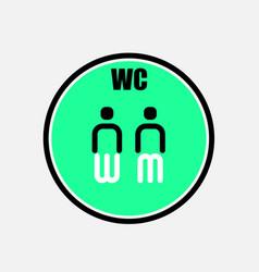 funny wctoiletrestroom door plate symbolsman vector image