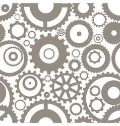 Gear wheels seamless background vector image