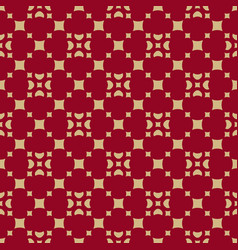 gold and red geometric seamless pattern vector image